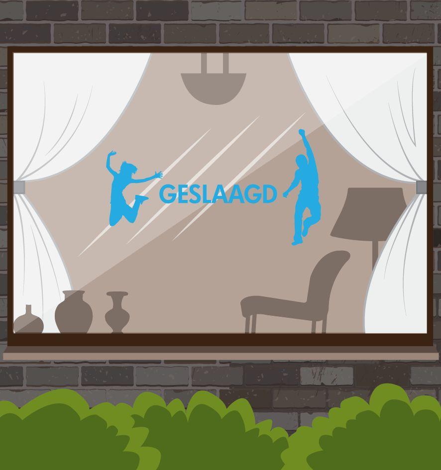 Etiqueta de la ventana éxito - Es parte del tiempo!