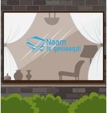 Erfolgreiche Fensteraufkleber - Stapel Bücher