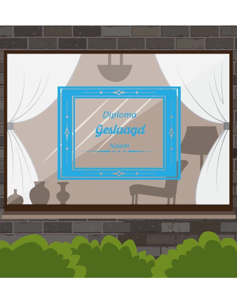 fenêtre réussie autocollant - certificat de diplôme