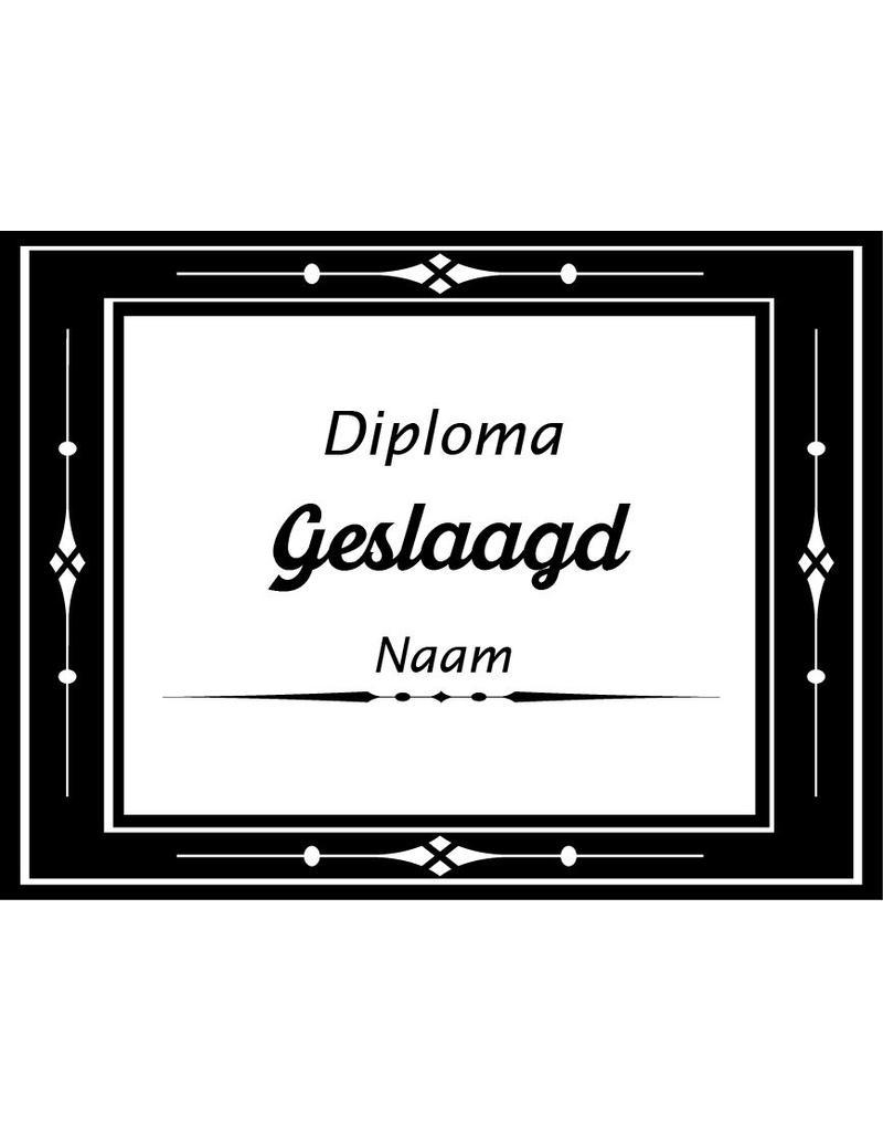 Geslaagd raamsticker - Diploma certificaat