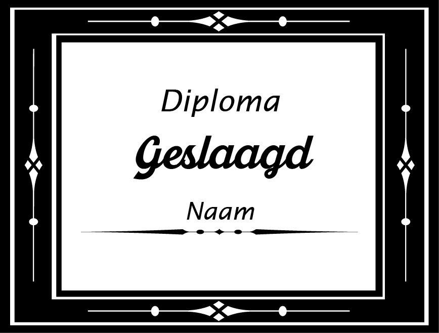 Etiqueta de la ventana éxito - Diploma certificado