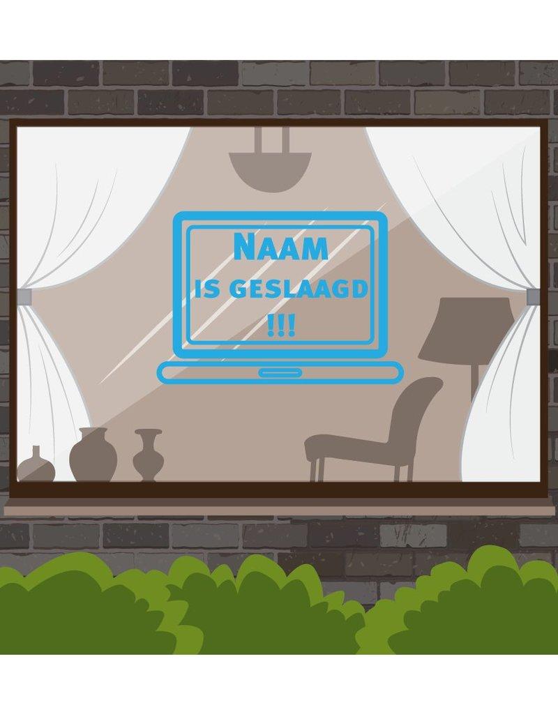 Successful window sticker - Laptop