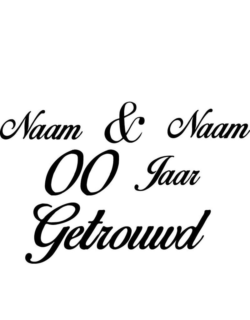 Wedding anniversary window sticker - Italic letters
