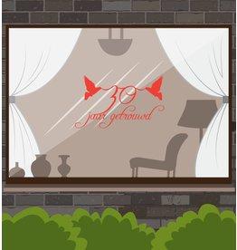 aniversario de boda etiqueta de la ventana - Lovebirds
