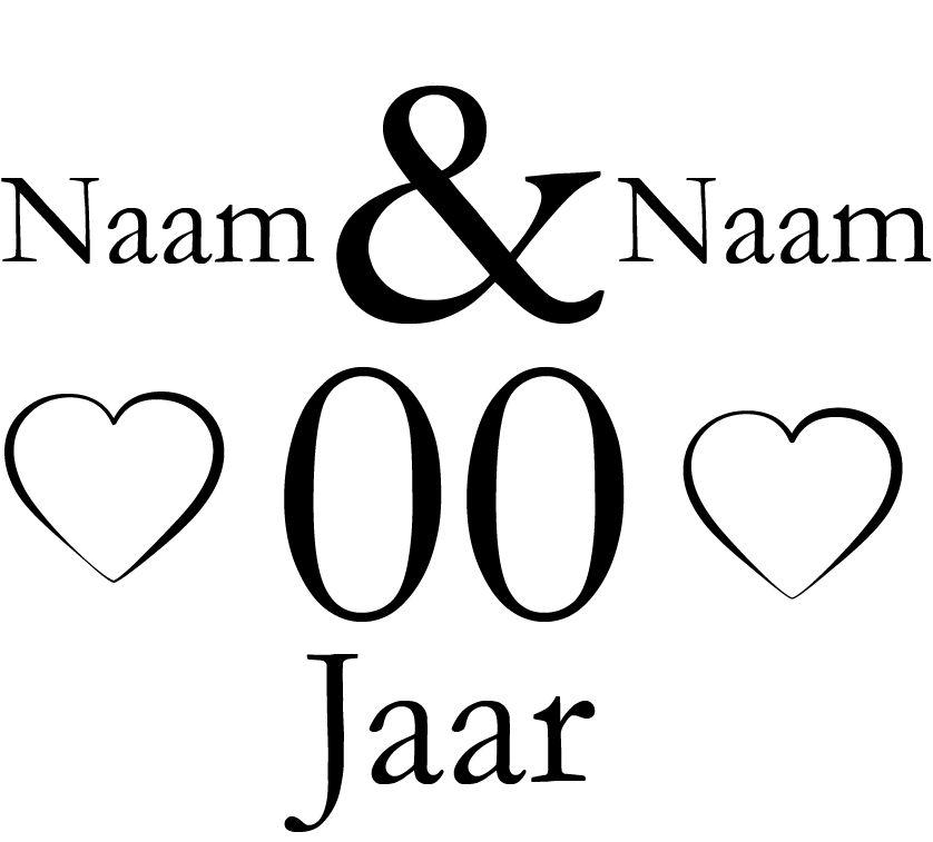 Wedding anniversary window sticker - Hearts