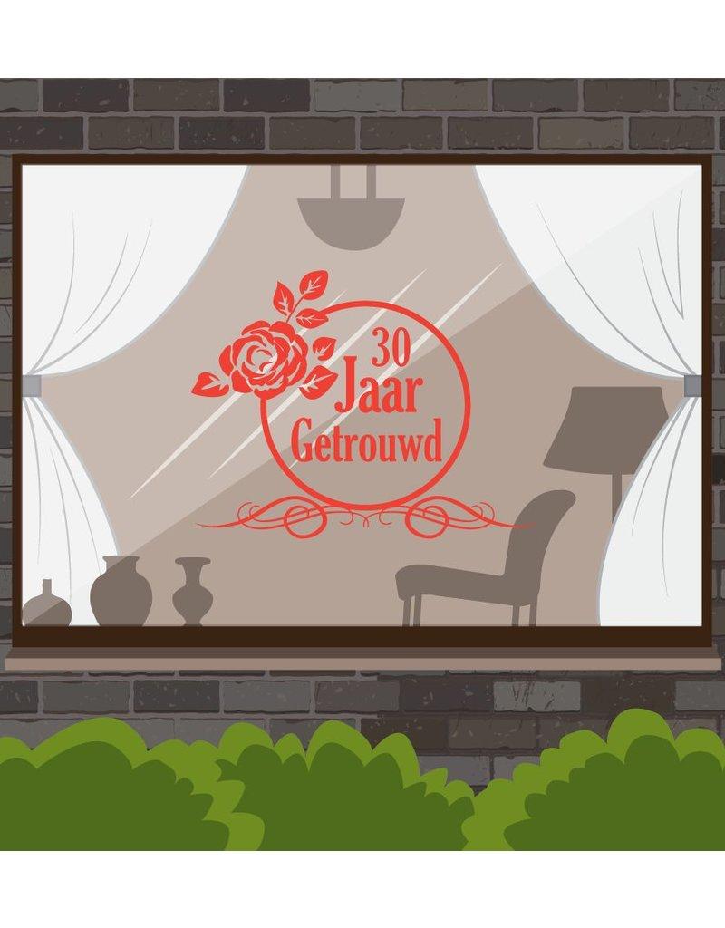 fenêtre anniversaire de mariage autocollant - Graceful Rose
