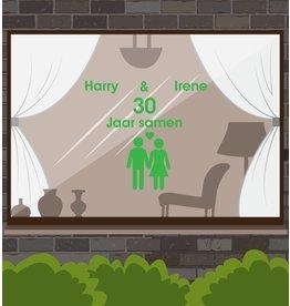 Sticker Fenêtre Love & Amitié - Masculin et féminin