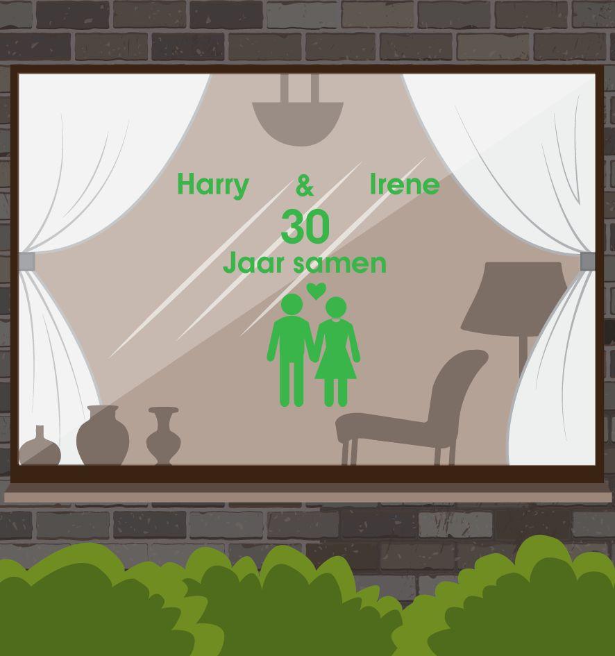 Love & Friendship Window Sticker - Male & Female