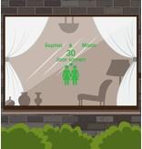 Love & Friendship Window Sticker - F & F
