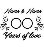 Amor y Amistad - Años de amor con los ornamentos