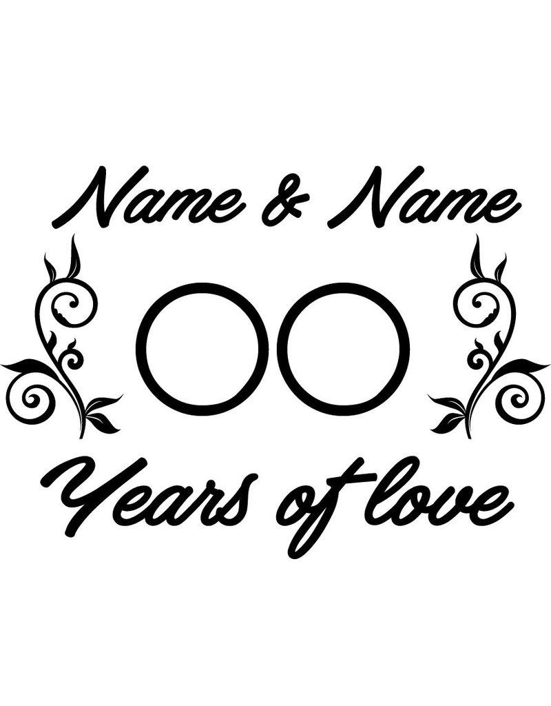 Liefde & Vriendschap - Years of love met ornamenten