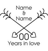 Amor y Amistad - La intersección de las flechas del corazón