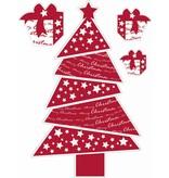 roja del árbol de navidad