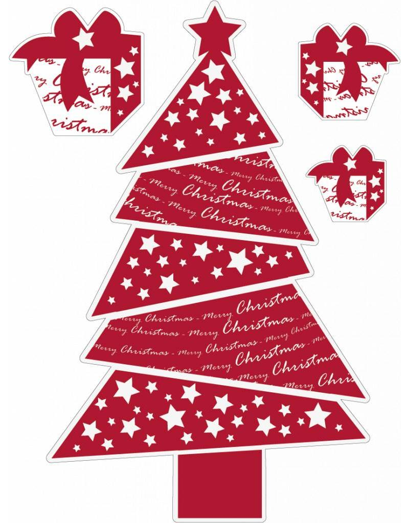 arbre rouge de Noël