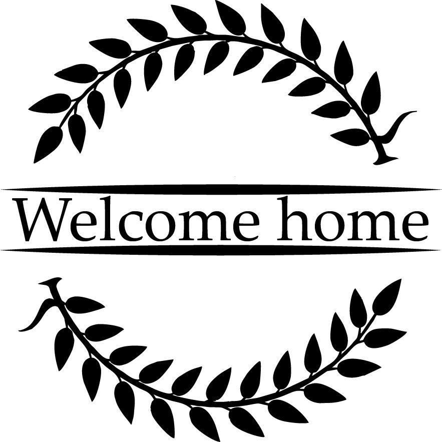Willkommen zurück Fenster-Aufkleber - Welcome Home