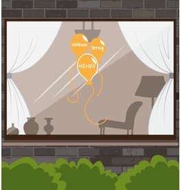 Welcome Back-Fenster-Aufkleber - Festliche Ballone