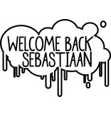 Welcome Back Window Decal - éclaboussures de peinture