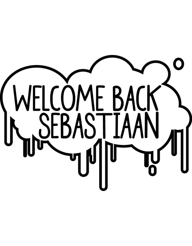 Welcome Back Window Decal - Paint splashes