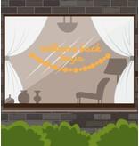 Bienvenido de nuevo etiqueta de la ventana - Beaded Garland