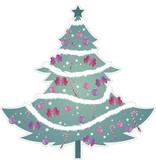 Kerstboom met slingers
