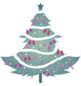 Árbol de navidad con guirnaldas
