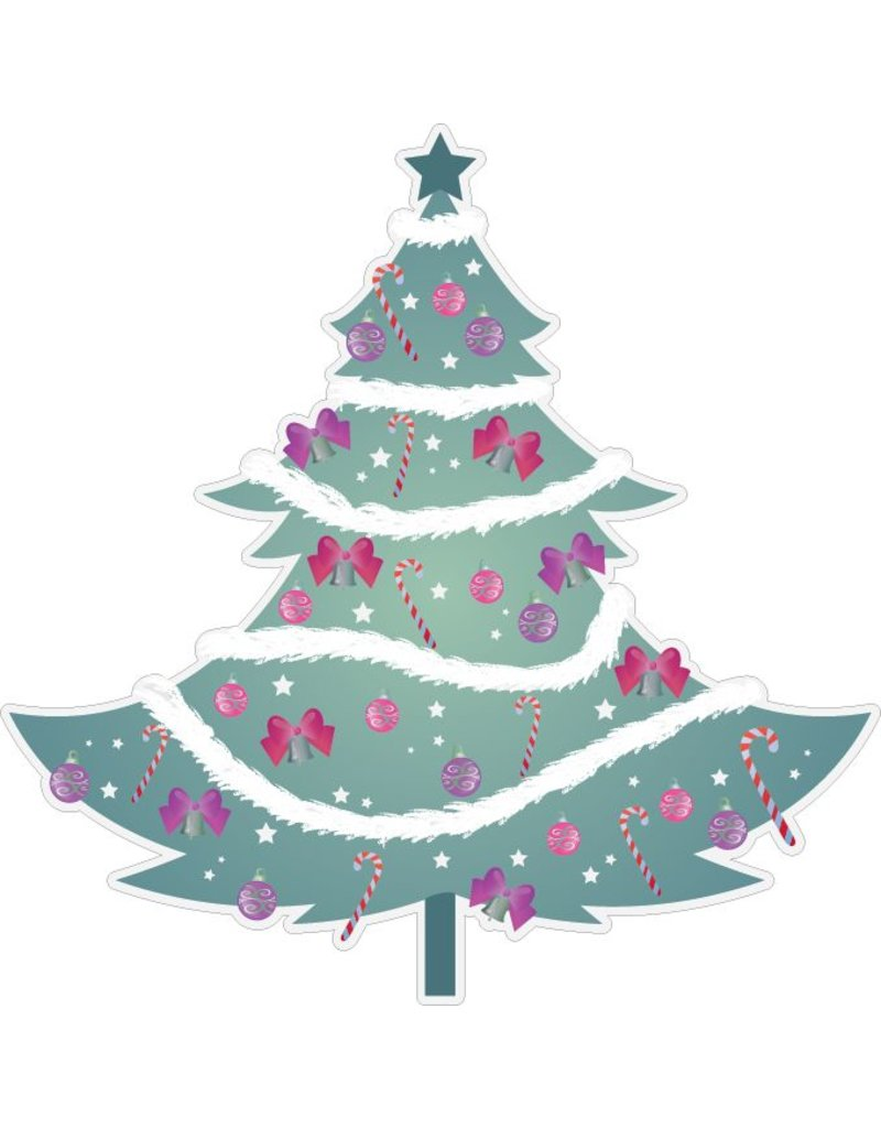 Christmas tree with garlands