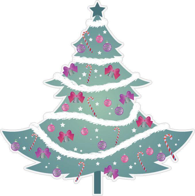 arbre de Noël avec guirlandes