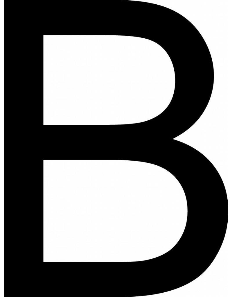 B lettres adhésives