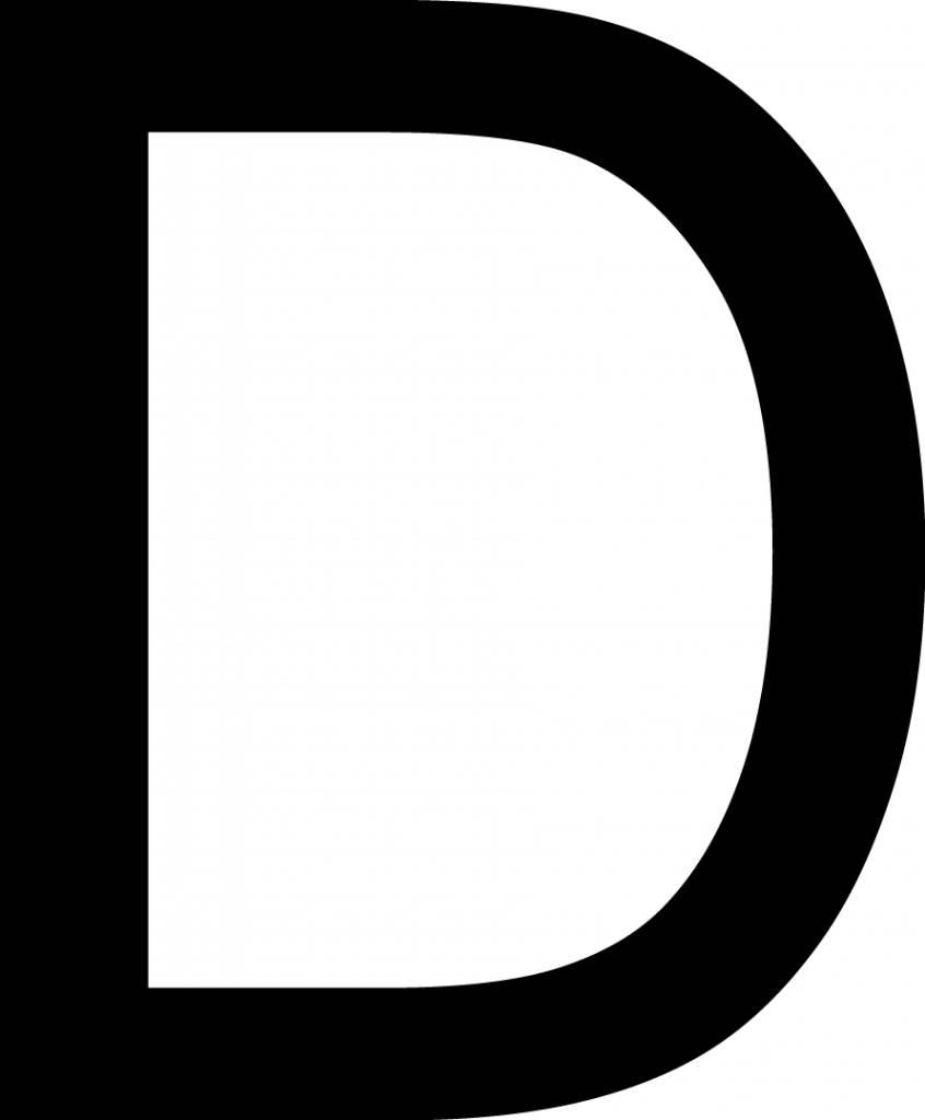 D lettres adhésives