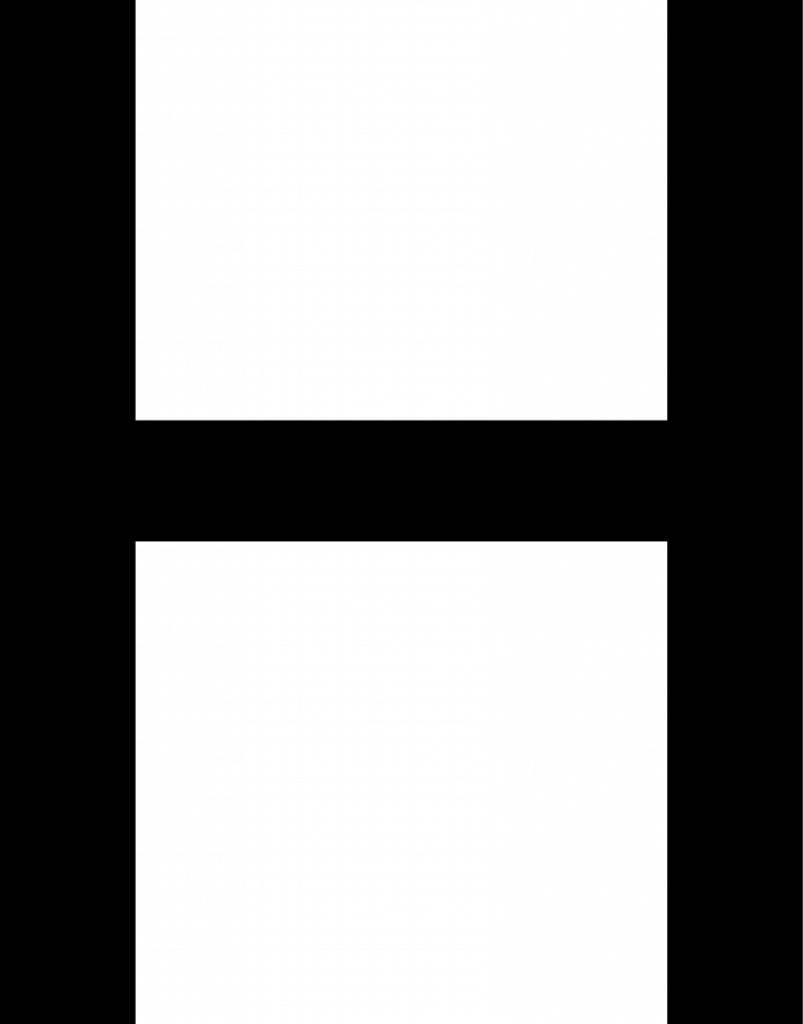 H lettres adhésives