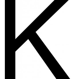 K Letter Stickers