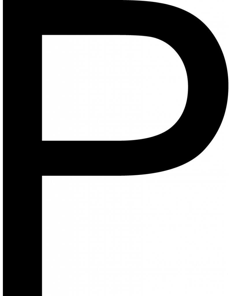 P lettres adhésives