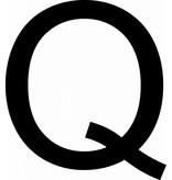 Q lettres adhésives
