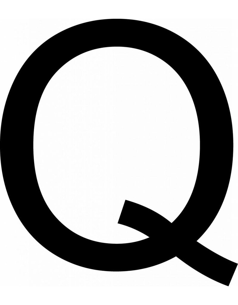 Q Letter Stickers