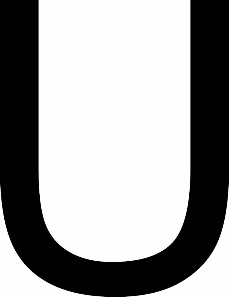 U lettres adhésives