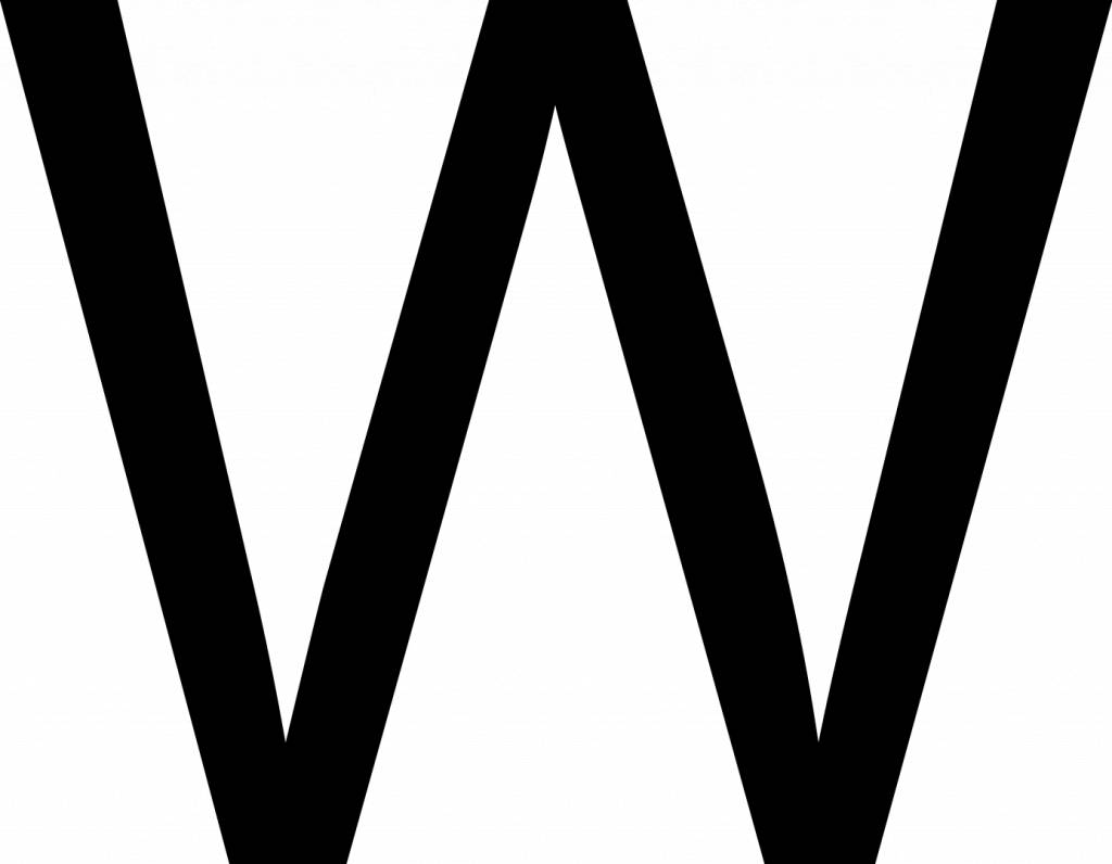 W Letter Stickers