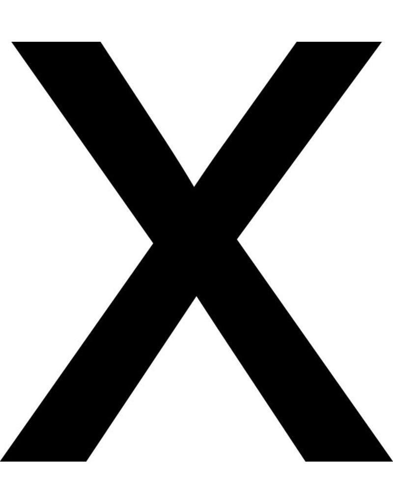 x Klebebuchstabe