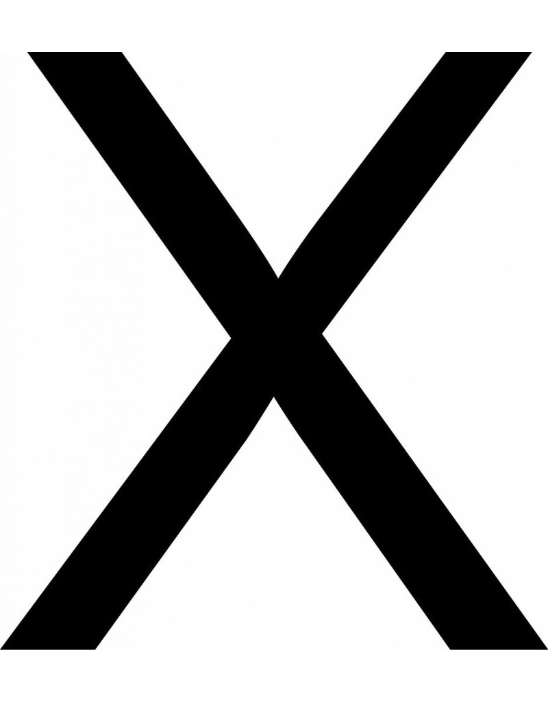 X lettres adhésives