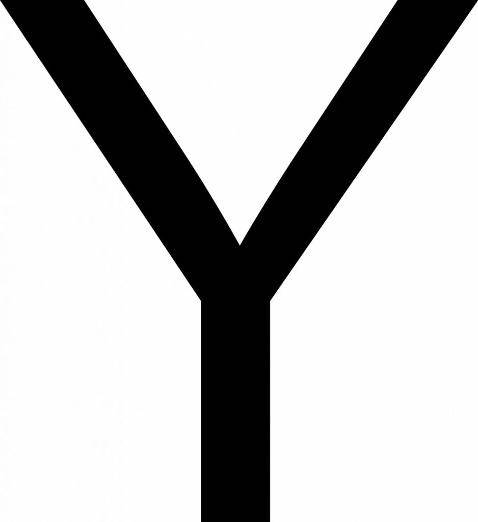 Y Letter Stickers