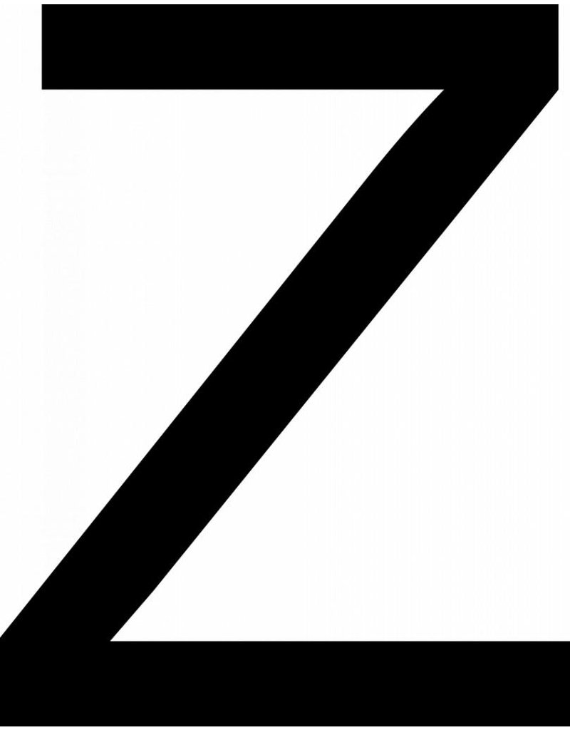 Z Letter Stickers