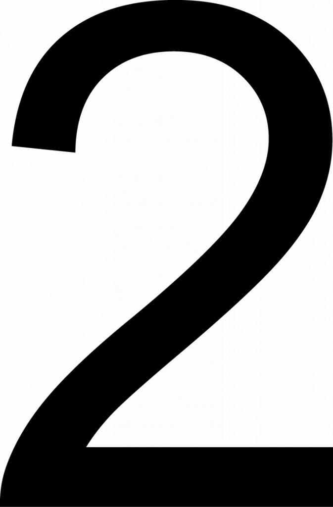 Deux lettres adhésives
