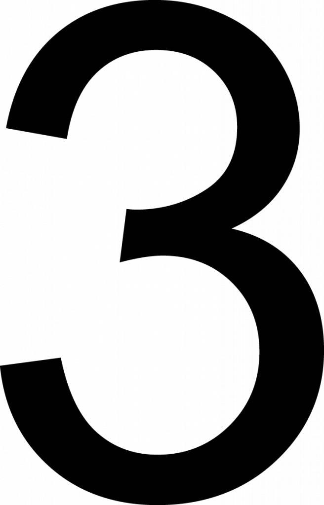 Trois lettres adhésives