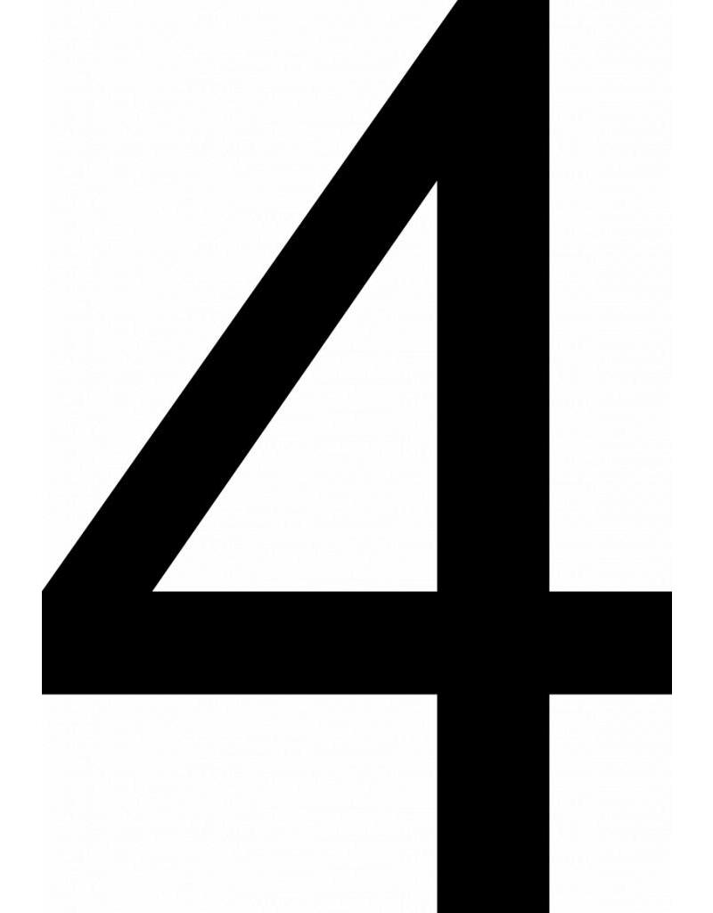 Vier Klebebuchstabe