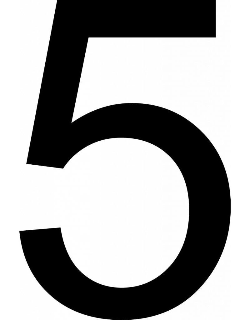 Cinq lettres adhésives