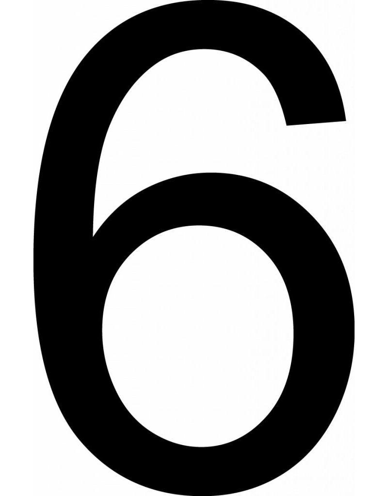 Sechs Klebebuchstabe