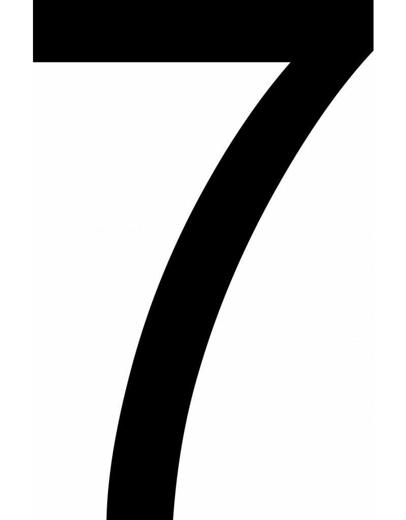 Sieben Klebebuchstabe