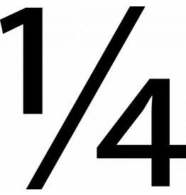 "Símbolo: ""1/4"""