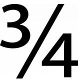 3/4 Klebebuchstaben