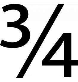 Three Fourth Letter Sticker