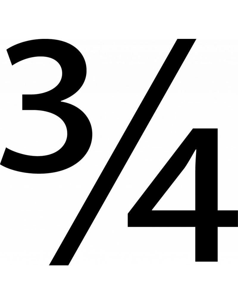 3/4 lettres adhésives